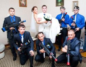 Похищение невесты в стиле милитари в Киеве