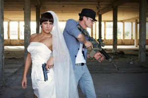 Годовщина свадьбы в стиле игры лазертаг