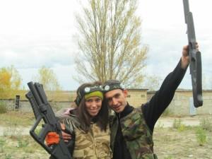 Отметьте годовщину свадьбы в Киеве в стиле лазертаг